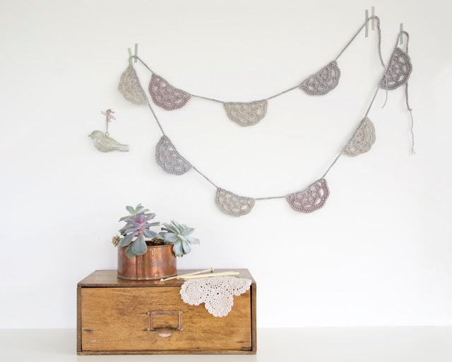 Mollie Makes: a crochet garland to fend off winter blues