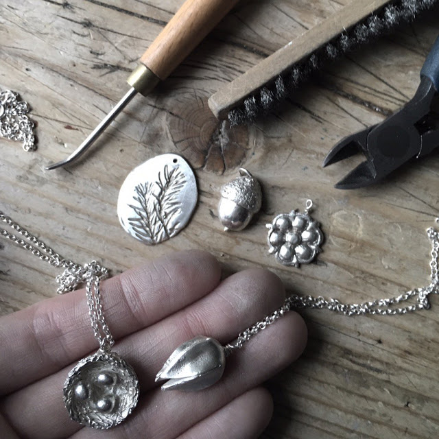 Silver necklace/ silver workshop giveaway