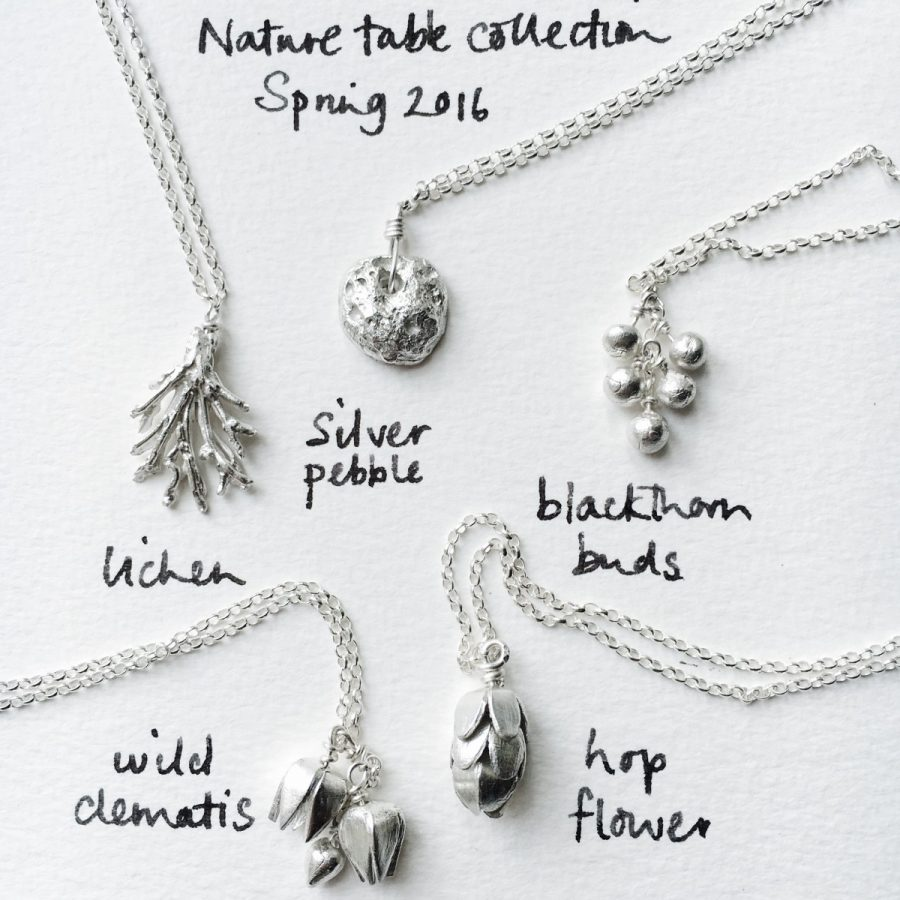 Spring silver nature table: Etsy relaunch